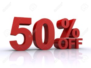 50 % off